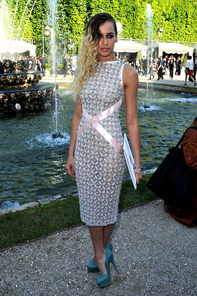 Alice Dellal in Chanel 2012/13 Cruise Collection