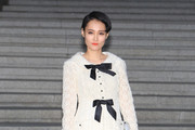 Rinko Kikuchi arrives the Chanel 2015/16 Cruise Collection show on May 4, 2015 in Seoul, South Korea.