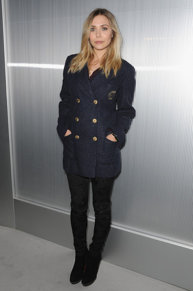 Elizabeth Olsen attends the Chanel Haute-Couture Spring / Summer 2012 Show as part of Paris Fashion Week at Grand Palais on January 24, 2012 in Paris, France.