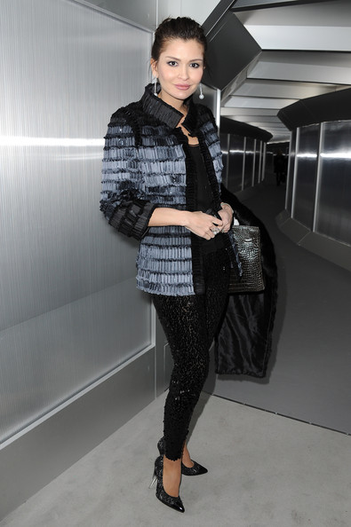 Lola Karimova attends the Chanel Haute-Couture Spring / Summer 2012 Show as part of Paris Fashion Week at Grand Palais on January 24, 2012 in Paris, France.