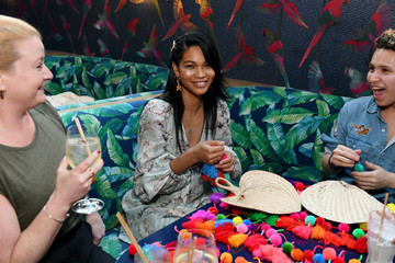Chanel Iman Missoma Celebrates The Launch Of Momposina In NYC With Kate Bosworth And Chanel Iman