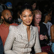 Chanel Iman PrettyLittleThing: Teyana Taylor Collection II New York Fashion Week - Front Row/Backstage