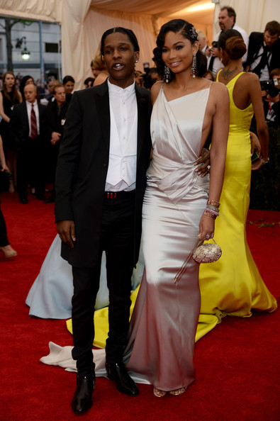Red Carpet Arrivals at the Met Gala — Part 3 [charles james: beyond fashion costume institute gala,flooring,carpet,red carpet,formal wear,fashion,suit,gown,dress,haute couture,event,red carpet arrivals,asap rocky,chanel iman,part,new york city,metropolitan museum of art,met gala]