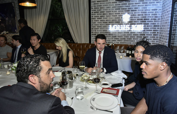 Haute Living And Louis XIII Celebrate Sterling Shepard [louis xiii celebrate sterling shepard,seth semilof,chanel iman,haute living,event,meal,restaurant,dinner,lunch,supper,conversation,party,brunch,drink,new york city,brooklyn chop house]