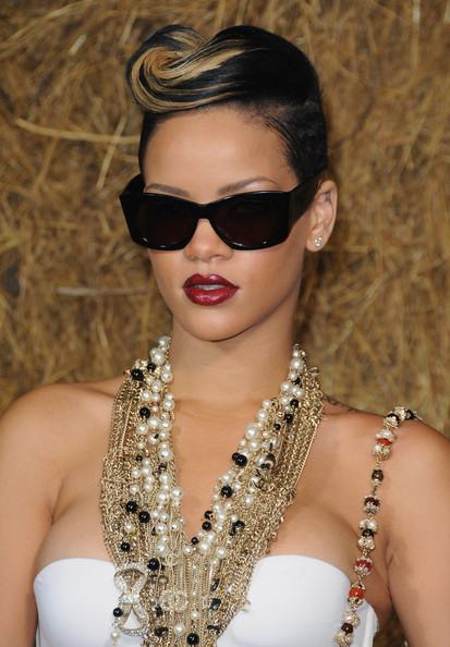 Singer Rihanna arrives to attend the Chanel Pret a Porter show as part of the Paris Womenswear Fashion Week Spring/Summer 2010 at Grand Palais on October 6, 2009 in Paris, France.