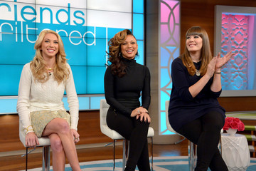 Chante Moore Bethenny Frankel Films Her Talk Show in NYC