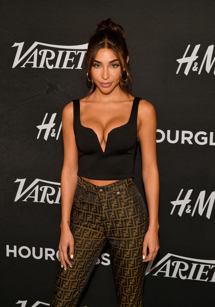 Variety's Annual Power Of Young Hollywood - Arrivals [clothing,shoulder,dress,hairstyle,waist,fashion,fashion model,premiere,carpet,brown hair,chantel jeffries,annual power of young hollywood - arrivals,power,young hollywood,west hollywood,california,sunset tower hotel,variety]