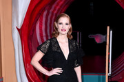 "Jessica Chastain attends the ""IT Chapter Two"" European Premiere at The Vaults on September 02, 2019 in London, England."