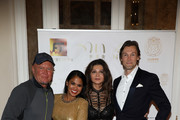 (L-R) David Wood ,Gilda Valleser, Sonia Cole and a guest attend the Better World awards ceremony Hotel de Paris on May 24, 2019 in Monaco, Monaco.