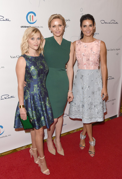 Charlene Wittstock (L-R) Actress Reese Witherspoon, Princess Charlene.of Monaco, and actress Angie Harmon attend the Colleagues' 26th Annual Spring Luncheon at the Beverly Wilshire Four Seasons Hotel on April 29, 2014 in Beverly Hills, California.