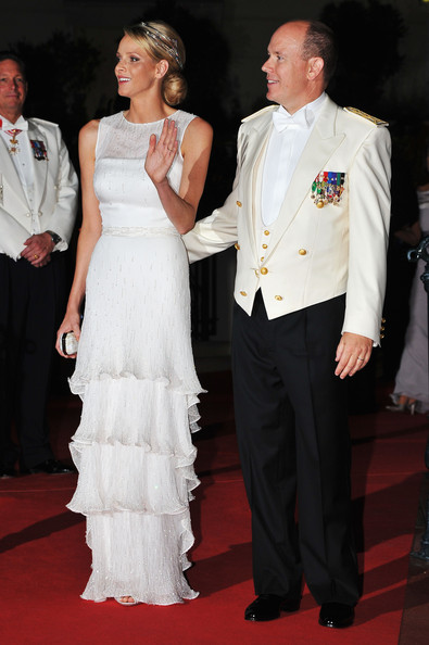 Charlene Wittstock Princess Charlene of Monaco and Prince Albert II of Monaco attend a dinner at Opera terraces after their religious wedding ceremony on July 2, 2011 in Monaco. The Roman-Catholic ceremony followed the civil wedding which was held in the Throne Room of the Prince's Palace of Monaco on July 1. With her marriage to the head of state of the Principality of Monaco, Charlene Wittstock has become Princess consort of Monaco and gains the title, Princess Charlene of Monaco. Celebrations including concerts and firework displays are being held across several days, attended by a guest list of global celebrities and heads of state.