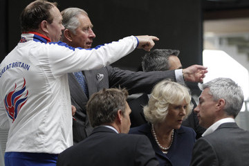 Barney Storey Charles and Camilla Visit Velodrome in the Olympic Park
