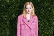 Ellie Bamber attends the Charles Finch & Chanel pre-BAFTA's dinner at Loulou's on February 09, 2019 in London, England.