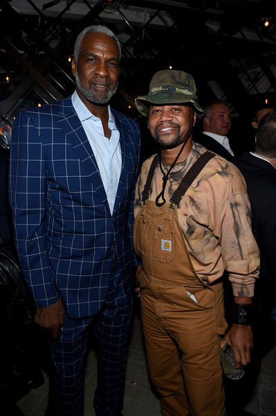 Cincoro Tequila Launch [outerwear,event,jacket,night,charles oakley,cuba gooding jr.,catch steak,new york city,cincoro tequila,cincoro tequila launch,launch]