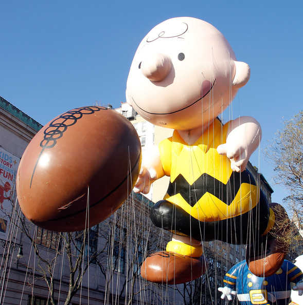 Charlie Brown Charlie Brown balloon floats at the 86th Annual Macy's Thanksgiving Day Parade on November 22, 2012 in New York City.