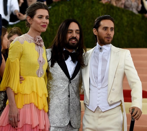 'Manus x Machina: Fashion in an Age of Technology' Costume Institute Gala [manus x machina: fashion in an age of technology costume institute gala,fashion,suit,yellow,outerwear,event,formal wear,human,blazer,street fashion,fashion design,alessandro michele,princess charlotte casiraghi,jared leto,r,c,monaco,italian,new york,l]
