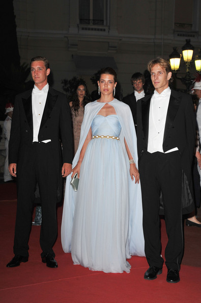 Charlotte Casiraghi Pierre Casiraghi, Charlotte Casiraghi and Prince Andrea Casiraghi attend a dinner at Opera terraces after the religious wedding ceremony of Prince Albert II of Monaco and Princess Charlene of Monaco on July 2, 2011 in Monaco. The Roman-Catholic ceremony followed the civil wedding which was held in the Throne Room of the Prince's Palace of Monaco on July 1. With her marriage to the head of state of the Principality of Monaco, Charlene Wittstock has become Princess consort of Monaco and gains the title, Princess Charlene of Monaco. Celebrations including concerts and firework displays are being held across several days, attended by a guest list of global celebrities and heads of state.