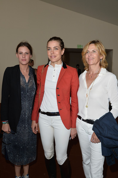 Charlotte Casiraghi (L-R) Juliette Maillot, Charlotte Casiraghi and Virginie Couperie-Eiffel attend the Paris Eiffel Jumping presented by Gucci at Champ-de-Mars on July 4, 2014 in Paris, France.