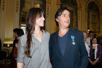 Charlotte Gainsbourg Yvan Attal French Ministry Hosts Honour Ceremony