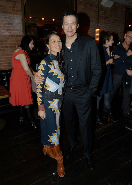 2018 Tribeca Film Festival After-Party For Woman Walks Ahead, Hosted By AT&T & Direct TV At American Cut [fashion,event,fashion design,textile,dress,outerwear,haute couture,costume,premiere,performance,chaske spencer,rulan tangen,american cut,woman walks ahead,new york city,party,at t,direct tv,tribeca film festival,2018 tribeca film festival]
