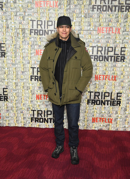 'Triple Frontier' World Premiere [jacket,carpet,outerwear,flooring,premiere,coat,chaske spencer,jazz,triple frontier,new york city,lincoln center,world premiere]