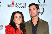 interior designer Jeff Lewis and his executive assistant Jenni Pulos arrive at Chaz Dean's Holiday Party Benefitting the Love is Louder Movement on December 1, 2012 in Los Angeles, California.