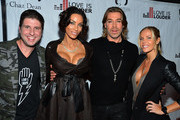 Love is Louder Movement CEO Courtney Knowles, Nicole Murphy, Celebrity Hair Stylist Chaz Dean, Jessica Canseco arrive at Chaz Dean's Holiday Party Benefitting the Love is Louder Movement on December 1, 2012 in Los Angeles, California.