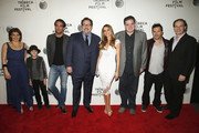 (L-R) Tribeca Film Festival Director Geoffrey Gilmore, Jon Favreau, Sofia Vergara, Emjay Anthony, Oliver Platt and John Leguizamo attend the 'Chef' Premiere during the 2014 Tribeca Film Festival at BMCC Tribeca PAC on April 22, 2014 in New York City.