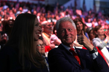 Chelsea Clinton Hillary Clinton Holds Primary Night Event in Brooklyn, New York