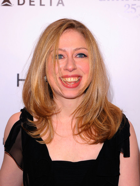 Chelsea Clinton Chelsea Clinton attends the amfAR New York Gala to