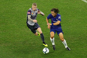 David Luiz of Chelsea controls the ball during the international friendly between Chelsea FC and Perth Glory at Optus Stadium on July 23, 2018 in Perth, Australia.