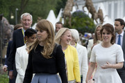 Princess Eugenie and Princess Beatrice attend the Chelsea Flower Show press day at Royal Hospital Chelsea on May 23, 2016 in London, England. The show, which has run annually since 1913 in the grounds of the Royal Hospital Chelsea, is open to the public from 24-28 May.