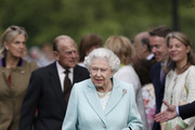 Queen Elizabeth II and her husband Prince Philip, Duke of Edinburgh arrive at Chelsea Flower Show press day at Royal Hospital Chelsea on May 23, 2016 in London, England. The show, which has run annually since 1913 in the grounds of the Royal Hospital Chelsea, is open to the public from 24-28 May.
