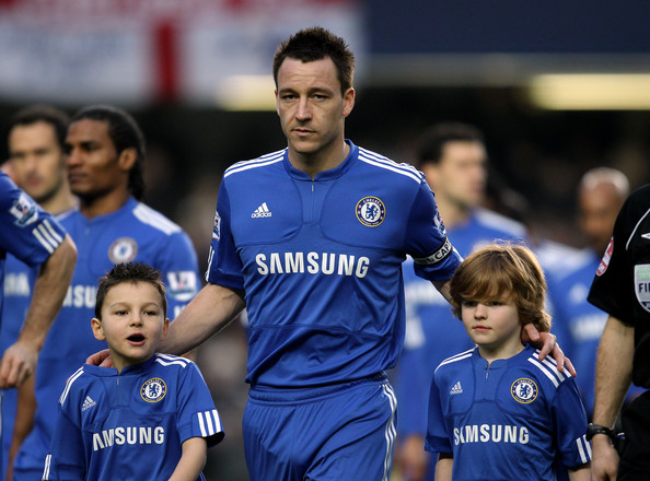 Chelsea and Arsenal at Stamford Bridge on February 7 2010 in London