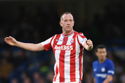 Charlie Adam of Stoke City reacts during the Premier League match between Chelsea and Stoke City at Stamford Bridge on December 30, 2017 in London, England.