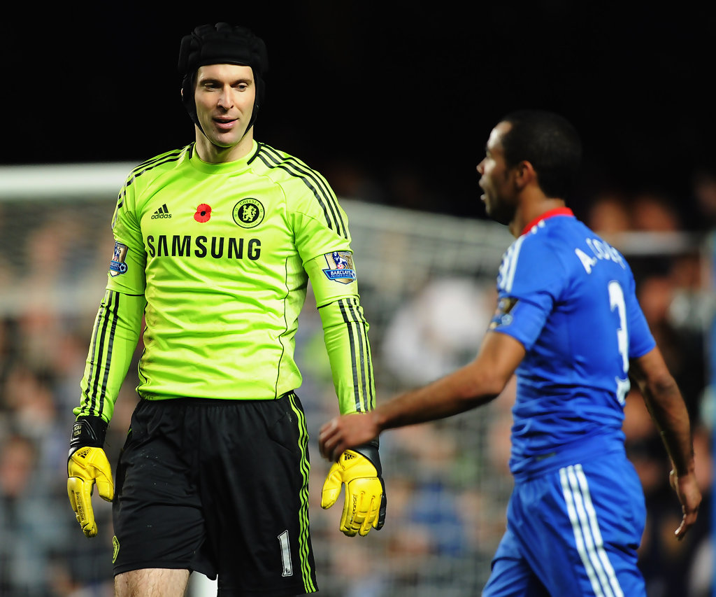 Petr Cech and Ashley Cole s s Chelsea v Sunderland