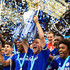 John Terry Photos - John Terry of Chelsea celebrates with the trophy after the Barclays Premier League match between Chelsea and Sunderland at Stamford Bridge on May 24, 2015 in London, England. Chelsea were crowned Premier League champions. - Chelsea v Sunderland - Premier League