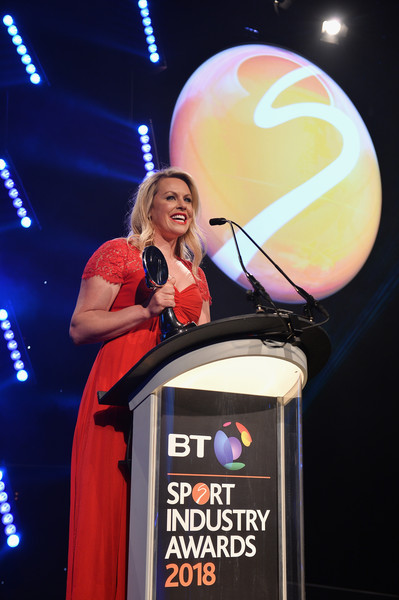 BT Sport Industry Awards 2018 [event,performance,fun,talent show,world,convention,chemmy alcott,bt sport industry awards,award,work,industry,sports stars,media,sustainability initiative of the year,world,england]