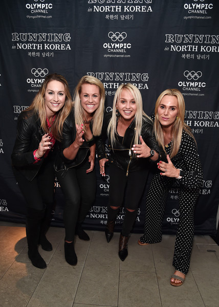 'Running in North Korea' World Premiere - Arrivals [fashion,event,premiere,performance,fashion design,style,little black dress,arrivals,amy williams,sarah joanne lindsay,aimee fuller,chemmy alcott,north korea,england,curzon bloomsbury,world premiere,\u0153running]