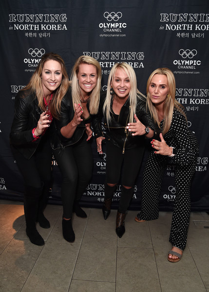 'Running in North Korea' World Premiere - Arrivals [fashion,event,fun,premiere,performance,arrivals,amy williams,sarah joanne lindsay,aimee fuller,chemmy alcott,north korea,england,curzon bloomsbury,world premiere,\u0153running]