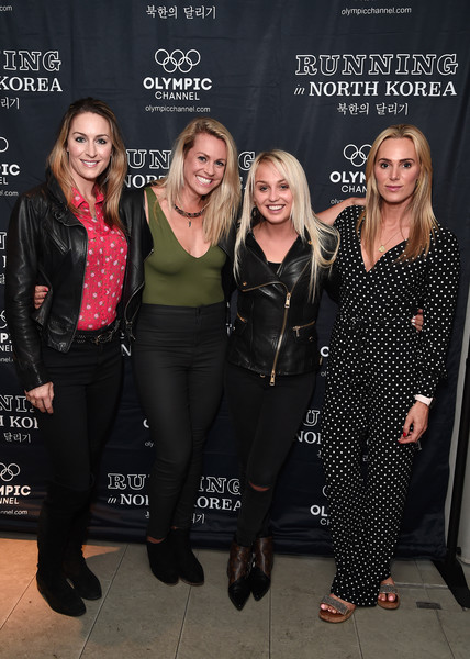 'Running in North Korea' World Premiere - Arrivals [fashion,event,premiere,performance,fashion design,little black dress,style,arrivals,amy williams,sarah joanne lindsay,aimee fuller,chemmy alcott,north korea,england,curzon bloomsbury,world premiere,\u0153running]