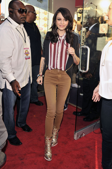 Cher Lloyd launches her shake at Millions Of Milkshakes on August 1, 2012 in West Hollywood, California.