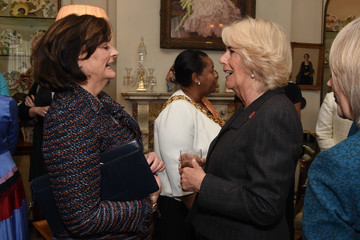 Cherie Blair The Duchess Of Cornwall Hosts A Reception For 'WOW - Women Of The World Festival'
