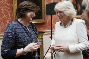 Cherie Blair The Duchess Of Cornwall Hosts A Reception At Buckingham Palace For Southbank Centre's WOW - Women Of The World Festival