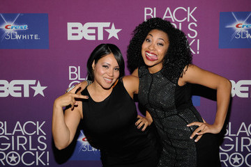 Cheryl James Corin Wray BET's Black Girls Rock 2012 - CREST Style And Smile Booth