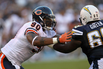 Julius Peppers Tyronne Green Chicago Bears v San Diego Chargers