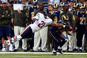 Tracy Porter #21 of the Chicago Bears blocks a pass intended for Tavon Austin #11 of the St. Louis Rams in the second quarter at the Edward Jones Dome on November 15, 2015 in St. Louis, Missouri.