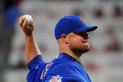 Jon Lester #34 of the Chicago Cubs pitches in the second inning against the Atlanta Braves at SunTrust Park on July 17, 2017 in Atlanta, Georgia.
