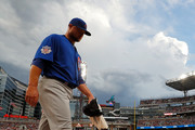 Jon Lester #34 of the Chicago Cubs walks to the dugout prior to facing the Atlanta Braves at SunTrust Park on July 17, 2017 in Atlanta, Georgia.