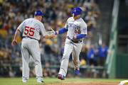 Anthony Rizzo #44 of the Chicago Cubs rounds third after hitting a home run in the seventh inning against the Pittsburgh Pirates at PNC Park on May 29, 2018 in Pittsburgh, Pennsylvania.
